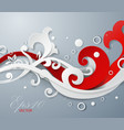 3d floral ornament background vector image