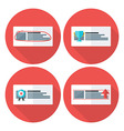 Advert flat circle icons set with long shadow vector image vector image