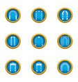 arch case icons set flat style vector image vector image