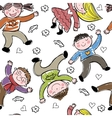 background cheerful children vector image vector image