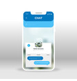 blue live chat ui ux gui screen for mobile apps vector image vector image