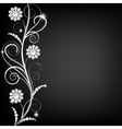 border with pearls vector image vector image