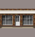brick small 3d store or boutique front facade vector image vector image