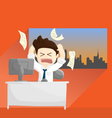 busy angry work time salary man cartoon lifestyle vector image vector image