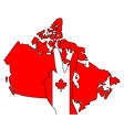 Canadian hand signal vector image vector image