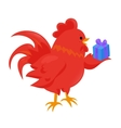 Cartoon chinese zodiac fire rooster vector image