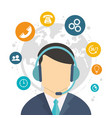 character call center world service vector image vector image