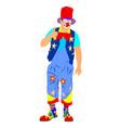 clown portrait animator for children birthday vector image