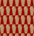 Coffins seamless pattern on a red background vector image