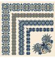 collection of ornamental floral vintage frame desi vector image vector image