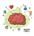 colorful poster of creative mind with encephalitic vector image