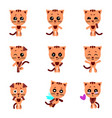 cute cats cat in kawaii style set vector image vector image