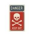 Danger sign with skull vector image vector image