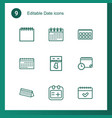 date icons vector image vector image