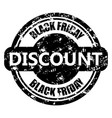 discount black friday round print vector image vector image
