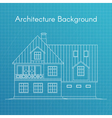 family house or cottage Architecture blueprint vector image vector image