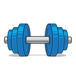 Fitness workout dumbbell isolated on white vector image vector image