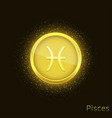 golden pisces sign vector image