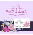 health and beauty logo background vector image vector image