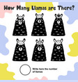 how many llamas are there count and write vector image vector image