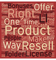 How To Make Quick Cash With Resell Rights text vector image vector image