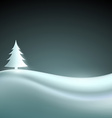 landscape with christmas tree vector image vector image