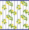 lemon striped seamless pattern vector image vector image