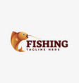 logo fishing gradient colorful style vector image