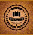 logo with suitcase for summer travel holidays vector image vector image