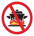 Making food prohibited vector image vector image