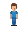 mechanic worker cartoon vector image vector image