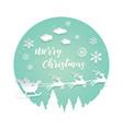 paper cut santa merry christmas vector image vector image