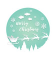 paper cut santa of merry christmas vector image vector image