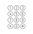 phone or calculator keypad smartphone interface vector image vector image