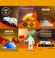 planet colonization flat cards vector image vector image