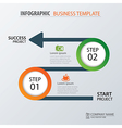 road business timeline infographic template vector image