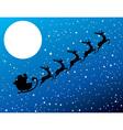 santa stars moon vector image vector image