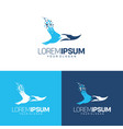 seagull symbol and pixel logo template vector image