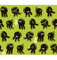 Seamless pattern with cute little octopuses vector image vector image