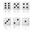 set game dices on a white background vector image