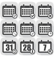 set icons calendar different icons flat vector image vector image