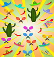 set mexican pictures vector image vector image