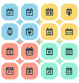 set of simple plan icons vector image vector image