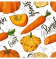 sketched vegetables background seamless vector image vector image