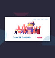 smokers and smoking addiction website landing page vector image vector image