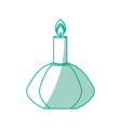 spa candle isolated vector image vector image