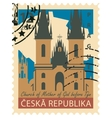 stamp with image prague vector image