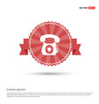 telephone icon - red ribbon banner vector image