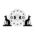 triple moon and black cats pagan wiccan goddess vector image