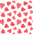 Watercolor hearts seamless pattern Repeating vector image vector image